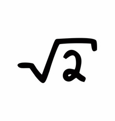 square root of two vector image