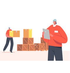 Storehouse distribution concept inventory manager vector