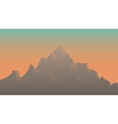 Stylized image mountains at sunrise vector