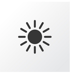 Sunny icon symbol premium quality isolated sun vector