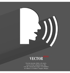 talking Flat modern web button with long shadow vector image