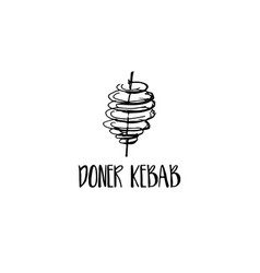 template icon logo for doner kebab vector image