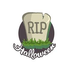 Tomb Halloween vector image