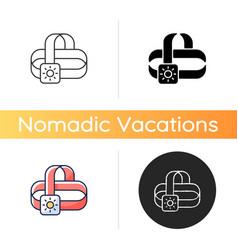 travel headlamp icon vector image