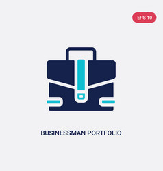 Two color businessman portfolio icon from tools vector