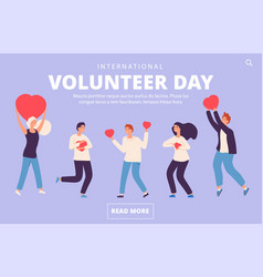 volunteer day concept charity volunteering vector image