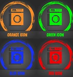 Washing machine icon sign Fashionable modern style vector
