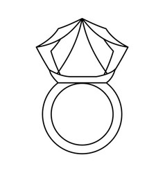 wedding ring isolated vector image