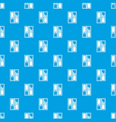 window cleaning pattern seamless blue vector image