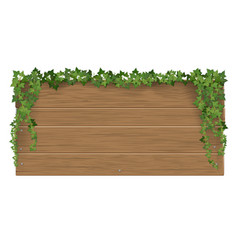 Wooden signpost covered ivy sticks vector