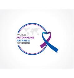World autoimmune arthritis day observed on 20th vector
