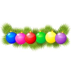 xmas balls garland vector image
