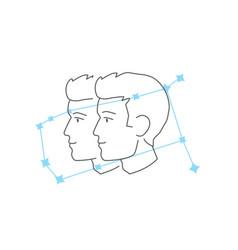 zodiac signs gemini line icon simple element vector image