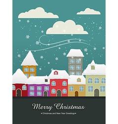 christmas vintage vector image vector image