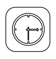figure symbol clock icon vector image