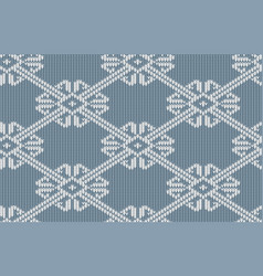 norwegian knitted pattern in vintage blue color vector image vector image