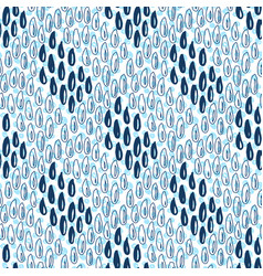 seamless pattern with rain drops blue background vector image