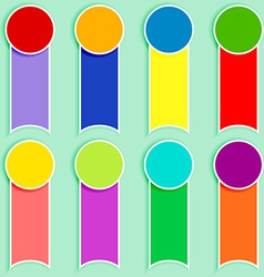 Set of multicolor tags-2 vector image vector image