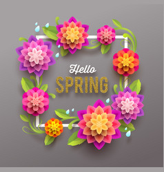 spring greeting card with flowers vector image vector image