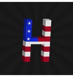 USA flag alphabet vector image