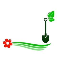 gardening background with flower vector image vector image