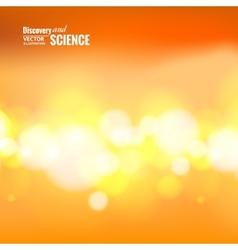 Orange science background vector image