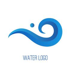 water gradient logo vector image vector image