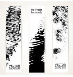 Abstrac black ink banner set vector image vector image