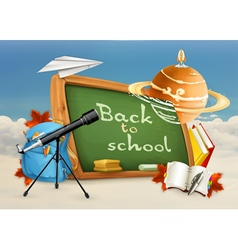 Back to school astronomy lessons studying and vector image vector image