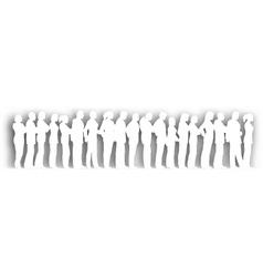 cutout queue vector image