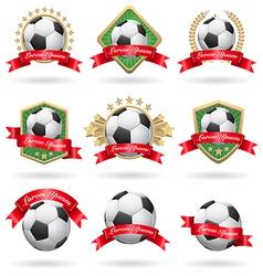 Soccer labels set vector image vector image