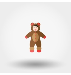 Baby dressed as a Bear vector image vector image