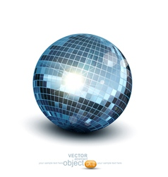 disco ball on a white background vector image
