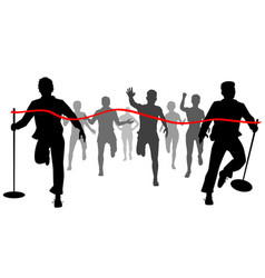 moving the finishing line vector image vector image