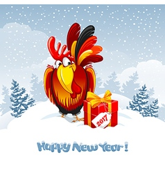 New Year greeting vector image vector image