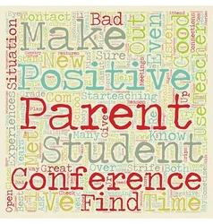 Positive Parent Conferences text background vector image vector image