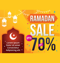 ramadan kareem sale vector image vector image