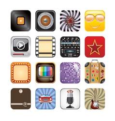 retro app icons vector image vector image