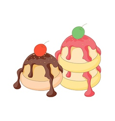 A view of desserts vector