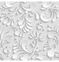Abstract Floral 3d Seamless Pattern Trendy Design vector image