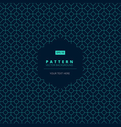 Abstract pattern square octagon and circle light vector