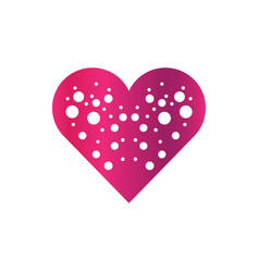 abstract valentine logo vector image