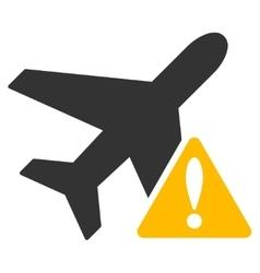 Aircraft Warning Icon vector image