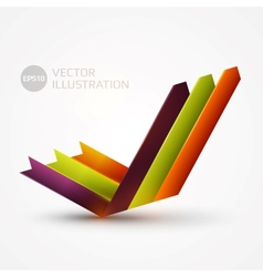 Arrows graph vector image