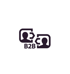 B2b commerce business concept icon vector