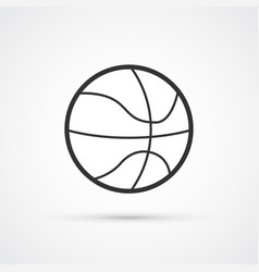 basketball sport ball black icon eps10 vector image