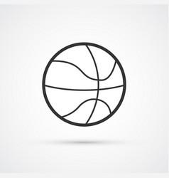 basketball sport ball black icon eps10 vector image