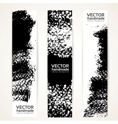 Black ink strokes banner set vector image vector image