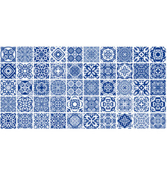 Blue tiles bundle vector