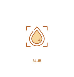 Blur concept 2 colored icon simple line element vector